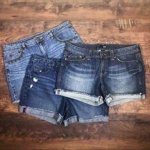 LOT OF 3 A.N.A & APT 9 Jean Shorts size 12